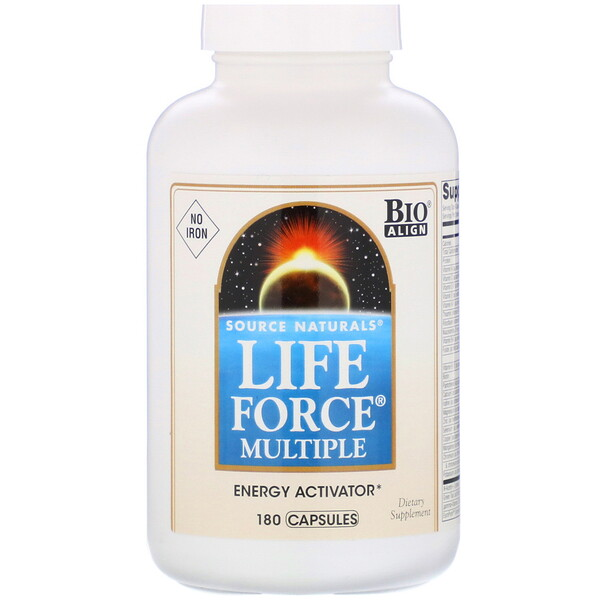 Source Naturals, Life Force Multiple, No Iron, 180 Capsules
