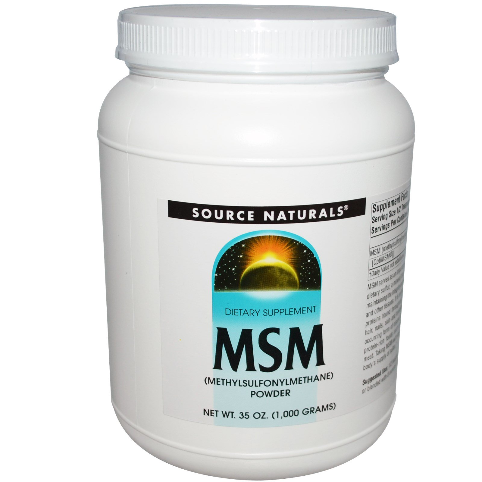 Source Naturals, MSM Powder, 2 2 lbs (1000 g) - iHerb com