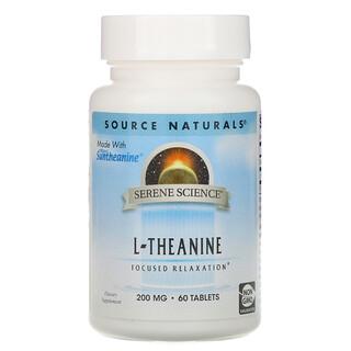 Source Naturals, إل-ثيانين، 200 ملغم، 60 حبة