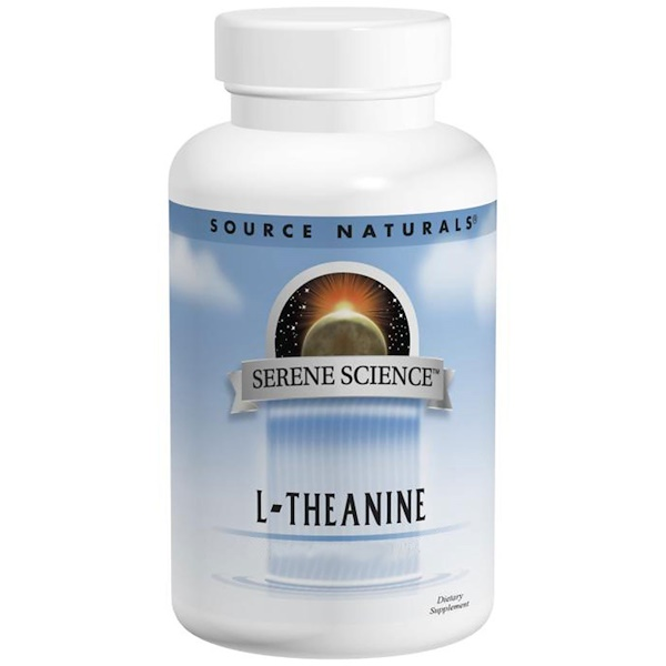 Source Naturals, L-Theanine, 200 mg, 60 Tablets