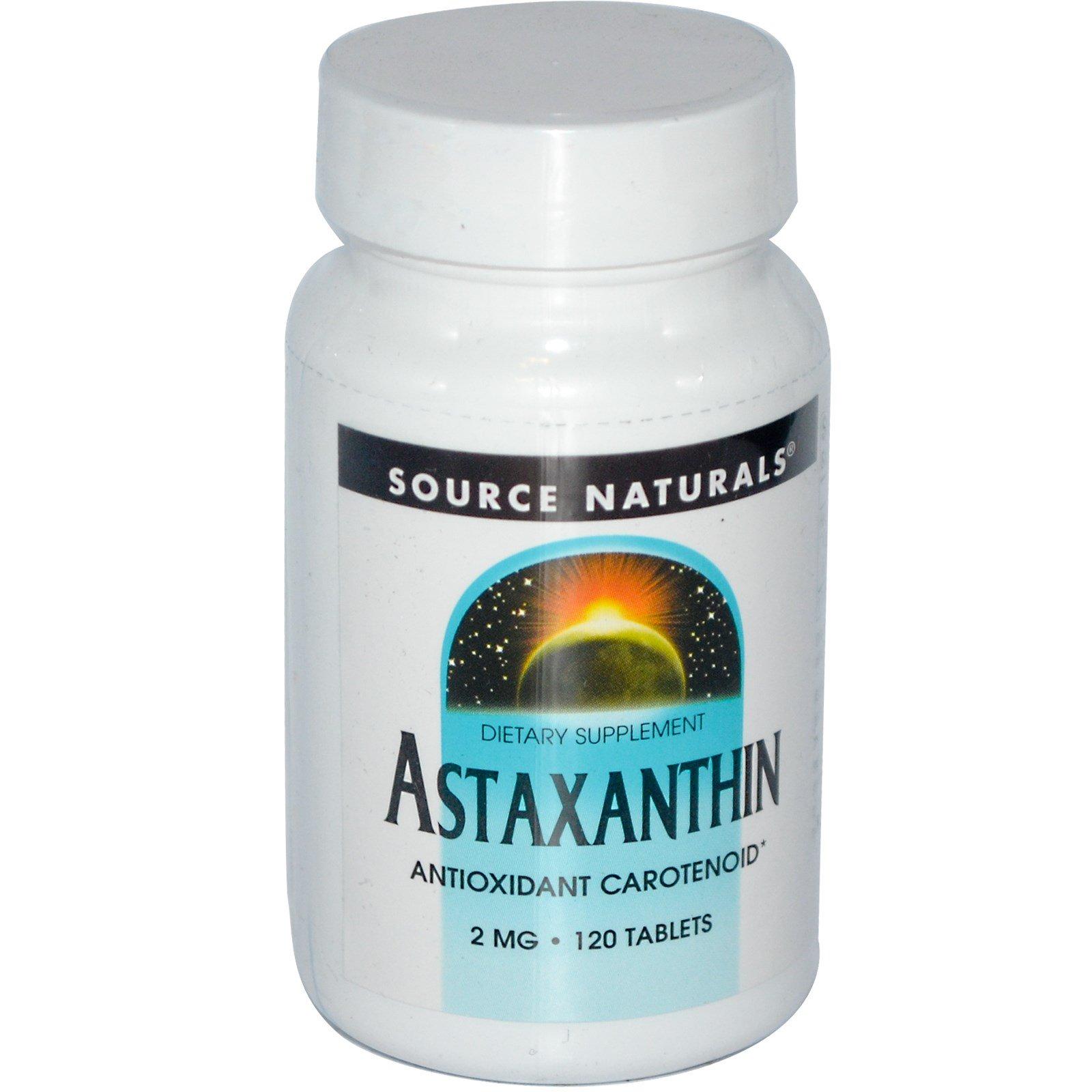 Source Naturals, Астаксантин, 2 мг, 120 таблеток