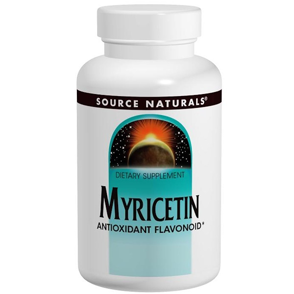 Source Naturals, Myricetin, 100 mg, 60 Tablets (Discontinued Item)