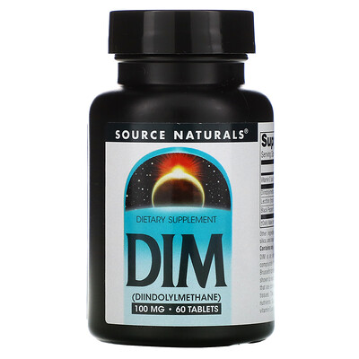Source Naturals DIM, 100 мг, 60 таблеток