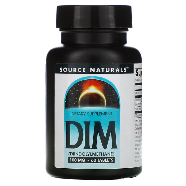 Source Naturals, DIM, 100 mg, 60 Tablets