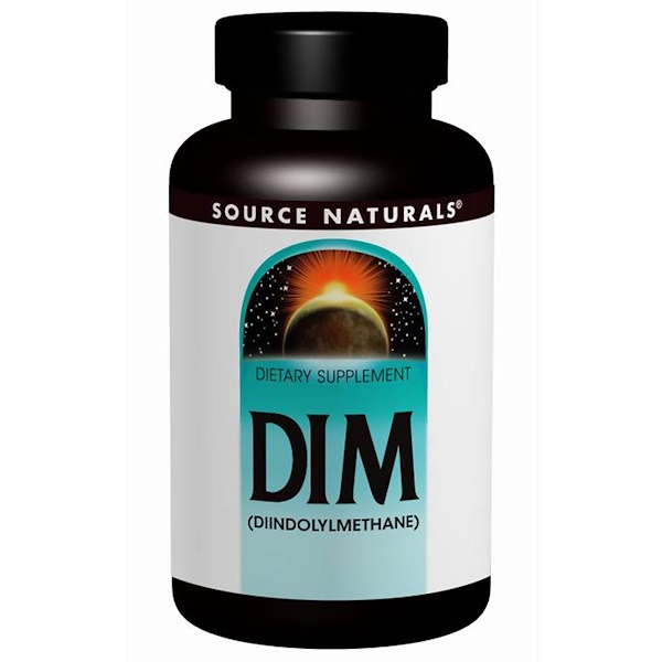 Source Naturals, DIM (Diindolylmethane), 100 mg, 60 Tablets