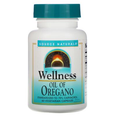 Купить Source Naturals Wellness, Oil of Oregano, 60 Vegetarian Capsules