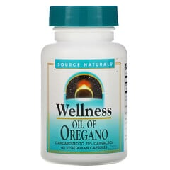 Source Naturals, Wellness,牛至油,60 粒素食膠囊