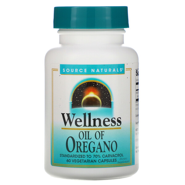 Wellness, Oil of Oregano, 60 Vegetarian Capsules