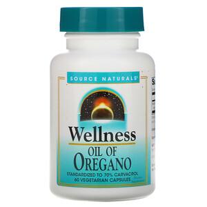 Сорс Начэралс, Wellness, Oil of Oregano, 60 Vegetarian Capsules отзывы покупателей