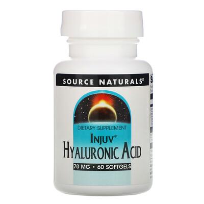 Source Naturals Injuv Hyaluronic Acid, 70 mg, 60 Softgels