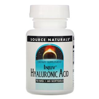 Source Naturals, Injuv Hyaluronic Acid, 70 mg, 60 Softgels