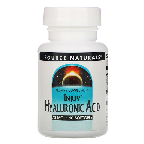 Source Naturals, Injuv Hyaluronic Acid, 70 mg, 60 Softgels