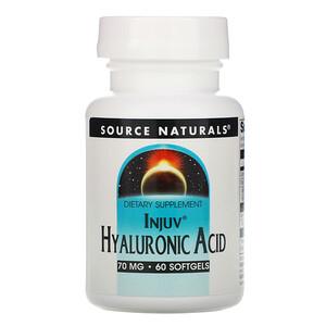Сорс Начэралс, Injuv Hyaluronic Acid, 70 mg, 60 Softgels отзывы покупателей