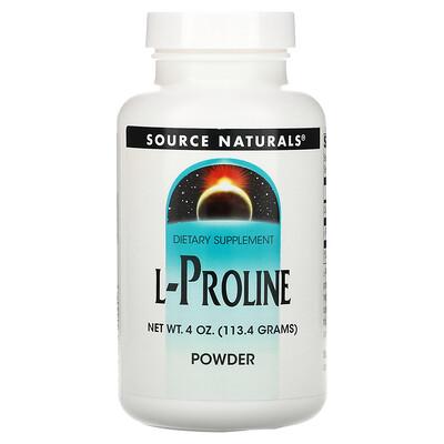Купить Source Naturals L-пролин в порошке, 113, 4г (4унции)