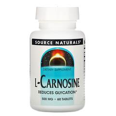 Source Naturals, 左旋肌肽,500毫克,60片