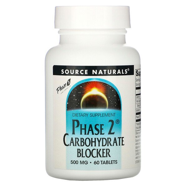 Phase 2 Carbohydrate Blocker, 500 mg, 60 Tablets