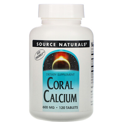 Source Naturals Коралловый кальций, 600 мг, 120 таблеток