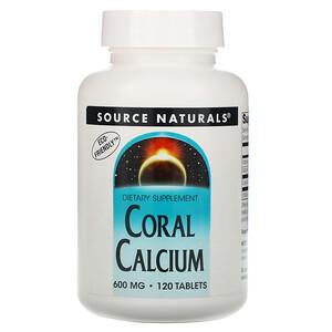 Сорс Начэралс, Coral Calcium, 600 mg, 120 Tablets отзывы покупателей