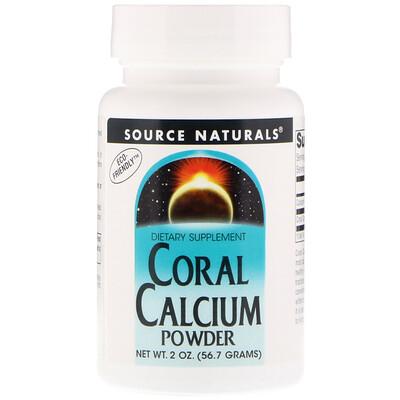 Source Naturals Кальций из кораллов, порошок, 2 унции (56,7 г)
