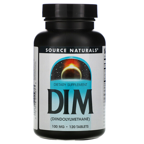 Source Naturals, DIM (Diindolylmethane), 100 mg, 120 Tablets