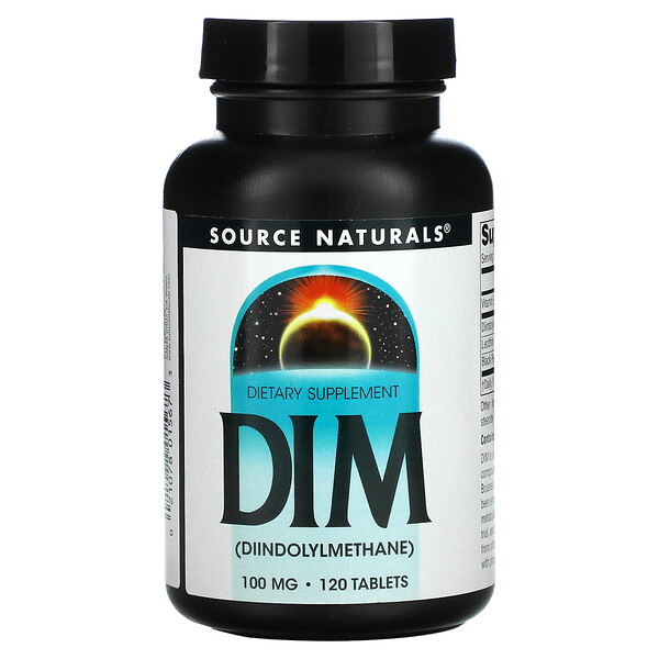 Source Naturals, DIM (Diindolylmethane), 100 mg, 120 Tablets