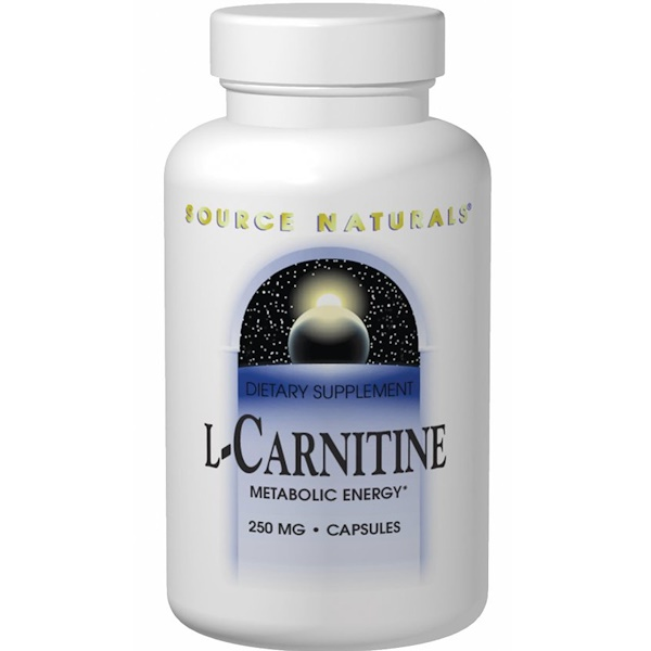 Source Naturals, L-Carnitine, 500 mg, 120 Capsules (Discontinued Item)