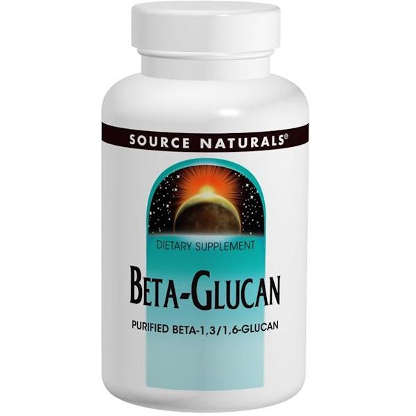 Source Naturals, Бета-глюкан (Beta Glucan), 250 мг, 60 таблеток (Discontinued Item)