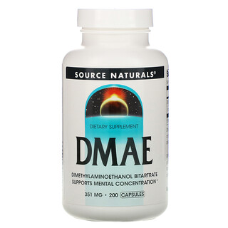 Source Naturals, ДМАЭ, 351 мг, 200 капсул