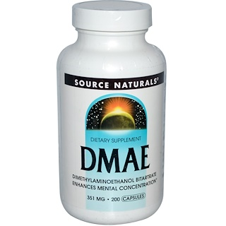 Source Naturals, DMAE,351毫克,200粒膠囊