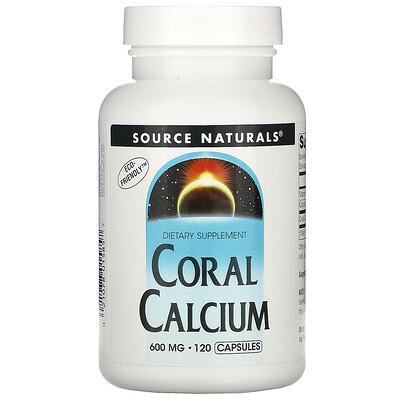Source Naturals Коралловый кальций, 600 мг, 120 капсул