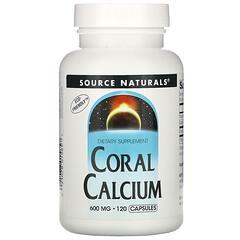 Source Naturals, 珊瑚鈣膠囊,600 毫克,120 粒裝