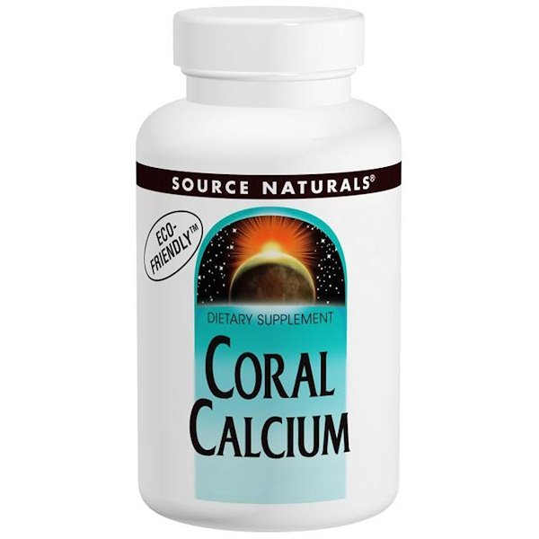 Source Naturals, Coral Calcium, 600 mg, 120 Capsules