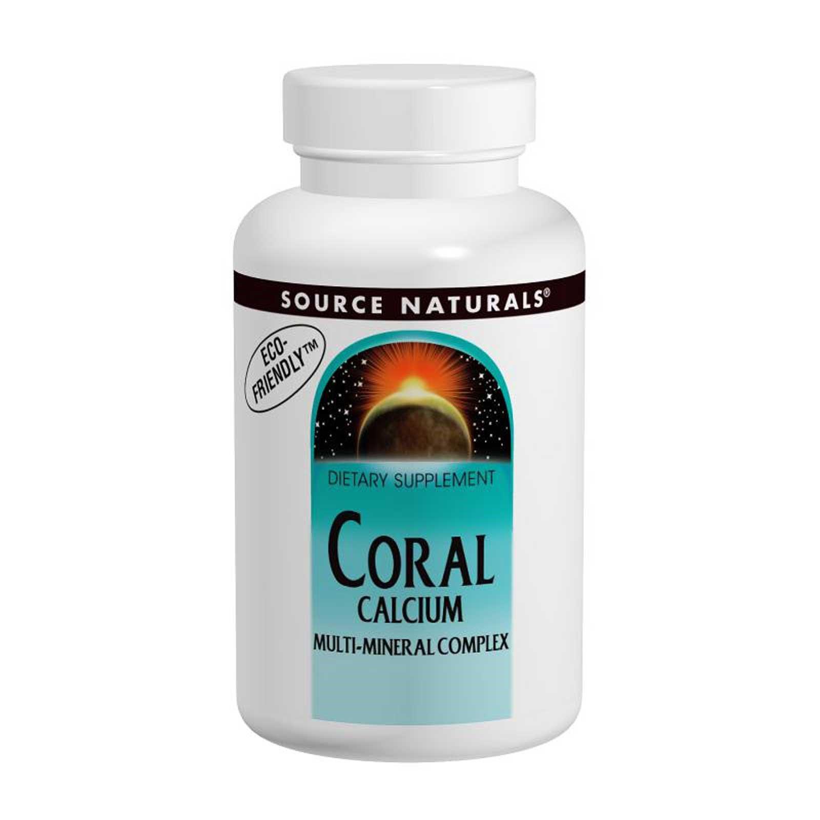 Source Naturals, Коралловый кальций, мультиминеральный комплекс, 120 таблеток