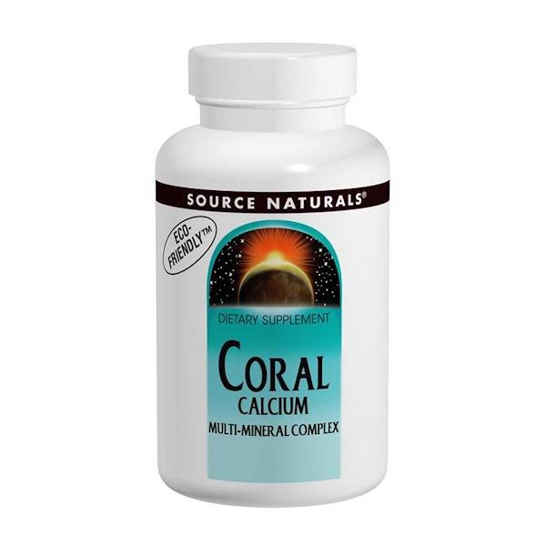 Source Naturals, Coral Calcium, Multi-Mineral Complex, 120 Tablets (Discontinued Item)