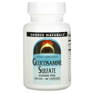 Source Naturals, Glucosamine Sulfate, 500 mg, 60 Capsules