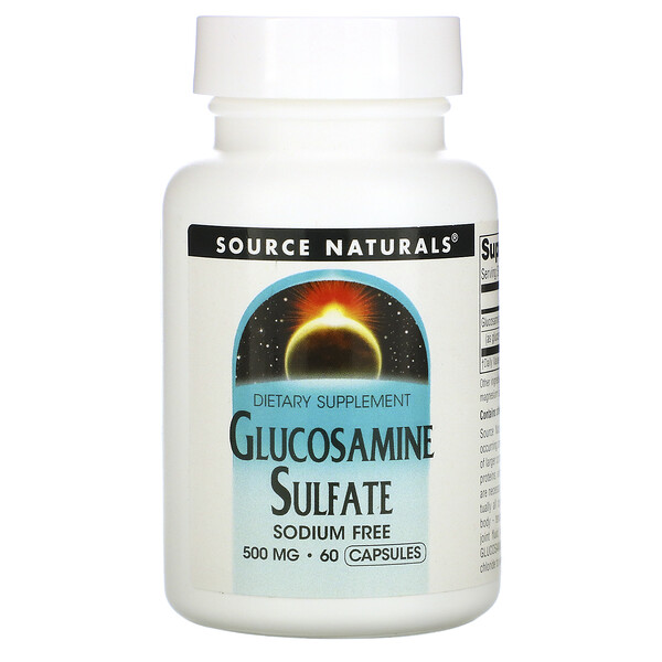 Source Naturals, Glucosamine Sulfate, 500 mg, 60 Capsules