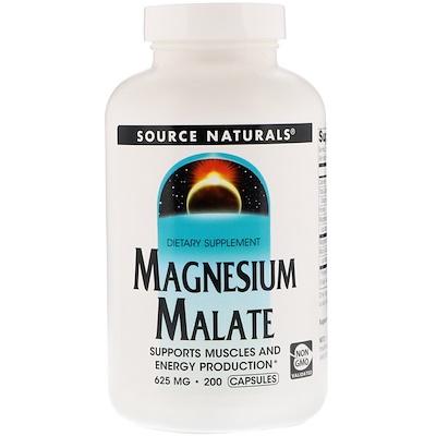 Яблочнокислый магний, 625 мг, 200 капсул капсулы с растворимыми волокнами 625 мг 180 капсул