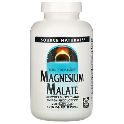 Купить Source Naturals Яблочнокислый магний, 3750мг, 200капсул