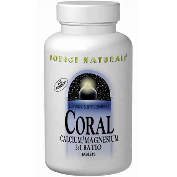Source Naturals, Coral, Calcium/Magnesium 2:1 Ratio, 90 Tablets (Discontinued Item)