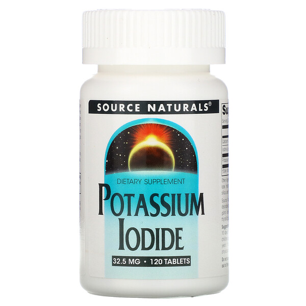 Source Naturals, Iodeto de Potássio, 32,5 mg, 120 tabletes