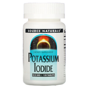 Сорс Начэралс, Potassium Iodide, 32.5 mg, 120 Tablets отзывы покупателей