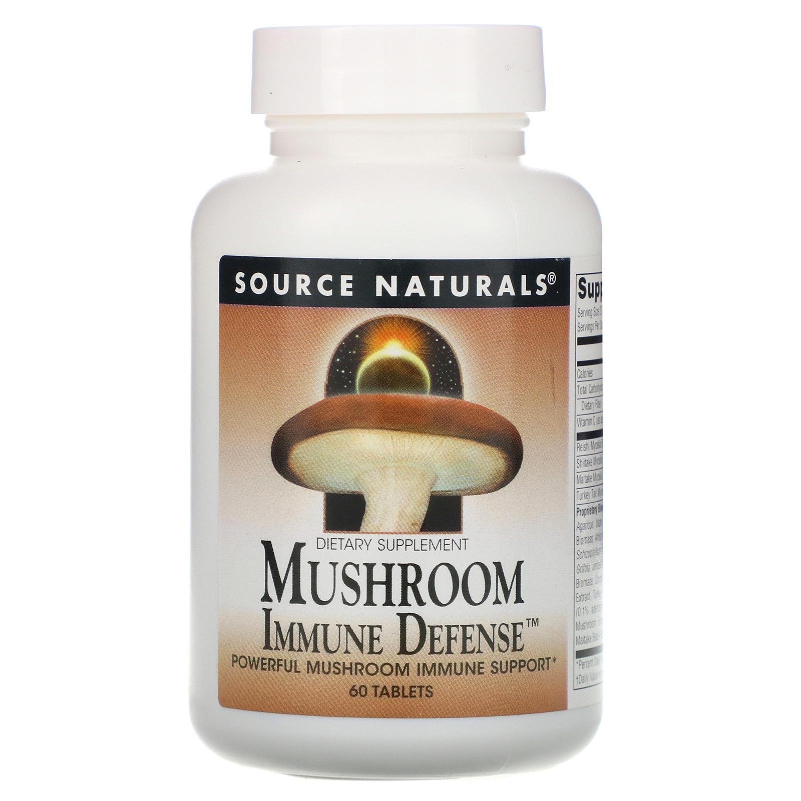 Source Naturals, Mushroom Immune Defense, 16-Mushroom Complex, 60 Tablets -  iHerb