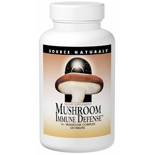 Source Naturals, Mushroom Immune Defense, 16-Mushroom Complex, 120 Tablets