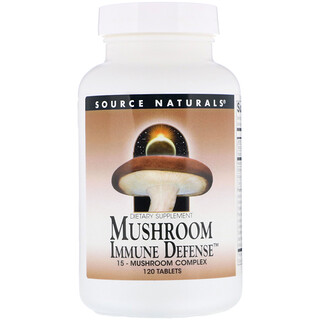 Source Naturals, Mushroom Immune Defense, complejo de 16 hongos, 120 tabletas
