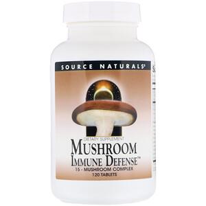 Сорс Начэралс, Mushroom Immune Defense, 15-Mushroom Complex, 120 Tablets отзывы