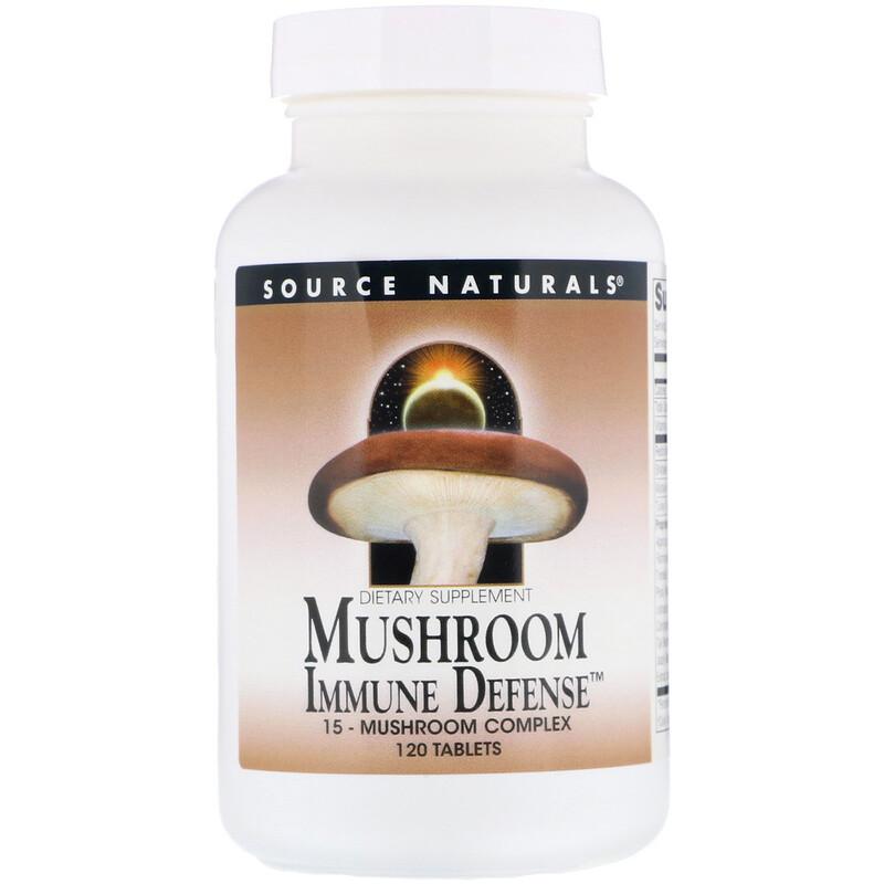 Mushroom Immune Defense, 15-Mushroom Complex, 120 Tablets