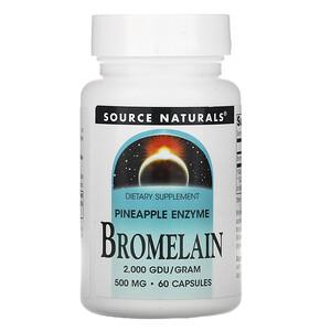 Сорс Начэралс, Bromelain, 500 mg, 60 Capsules отзывы покупателей