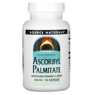 Source Naturals, Ascorbyl Palmitate, 500 mg, 90 Capsules