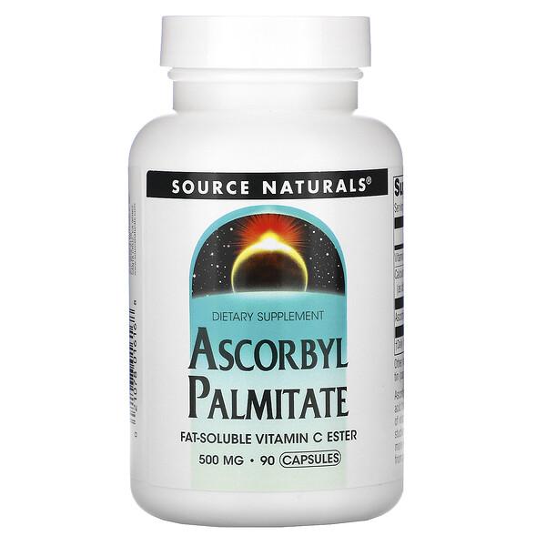 Source Naturals, アスコルビルパルミテート、500mg、90粒
