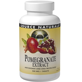 Source Naturals, Granatapfel-Extrakt, 500 mg, 60 Tabletten